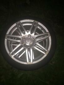 "2 x genuine Audi S line 18"" Wheels with tyres"