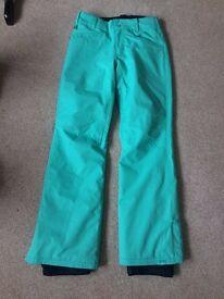 ROXY SKI WOMEN'S SKI PANTS- BLUE RADIANCE- SMALL- £50