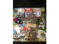 Thomas the tank engine train and toy bundle inc 6 books, 3 DVDs and more