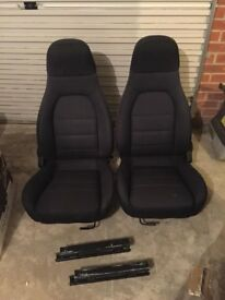 Mx5 tombstone seats - with brackets to fit classic mini.