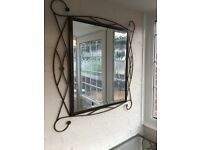 Large Wall Mirror and Matching Wall Mounted Consol Table