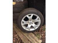 BMW X5 Genuine wheels with good tyres