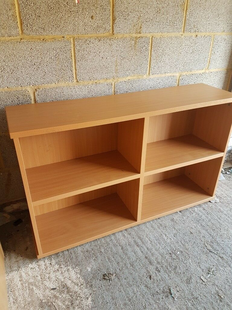 Beech Effect Low Bookcase Home Furniture Diy Furniture