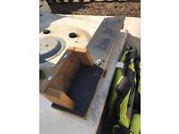 Canoe / outboard bracket