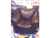 REAL LEATHER SOFA 3x SOFA UNITS 1X large 2X Smaller