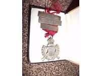 Old SILVER Army Rifle Association Shooting Medal. Hallmarked. Good Condition.