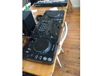 CDJ 1000 mk3 x 2 and DJM 600 mixer. Great Condition. Plenty of fun.
