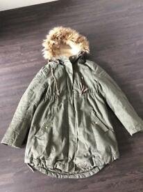 Maternity H&M parka coat size small