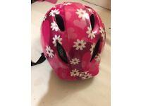 Girl's pink bicycle helmet adjustable fit size 46-53 cm