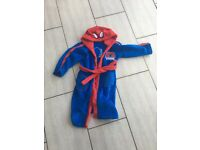 Boys Spider-Man dressing gown Age 4-5