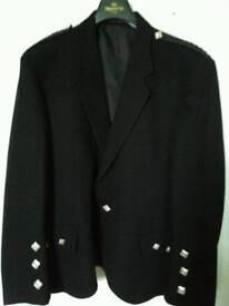 Black Argyle Kilt Jacket