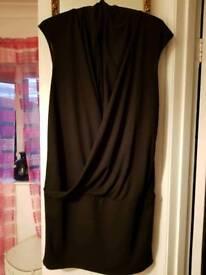 Size 14 worn once little black dress river island