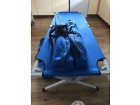 3 camp beds in good condition in bags.