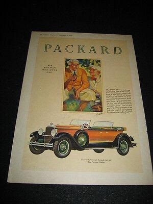 1928 Packard Eight convertible 645 Phaeton car vintage print ad advertisement for sale  Denver