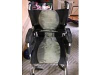 Foldable lightweight wheelchair