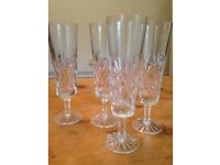 Tall Crystal Champagne Flutes (four)