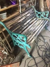 classic heavy cast iron garden / park bench 4 available £30 each