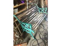 classic heavy cast iron garden / park bench 4 available £30 each
