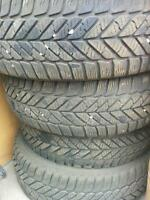 4 Goodyear Winter Tires Only - no rims!