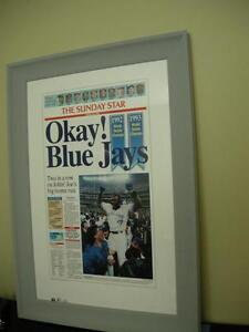 New Price OK Blue Jays Poster Framed and signed by Joe Carter