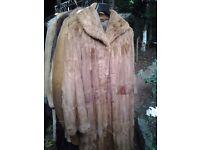 CHARITY: Vintage fur coat