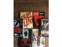 DVD Job Lot x 6 Leon / Captive / Hard Boiled /Fight Club /Menace 2 Society & Taxi Driver