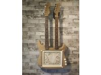Double neck guitar with picture frame