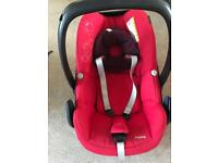 Maxi cosi pebble baby newborn car seat