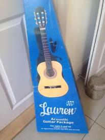Lauren acoustic guitar