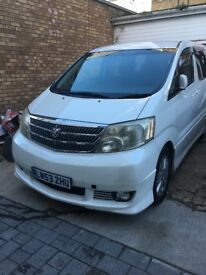 Toyota alphard 2. Auto dual fuel low mileage £4750