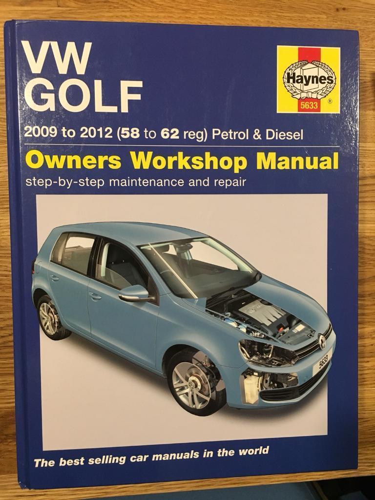 Haynes manual 5633: VW Golf (2009 to 2012)