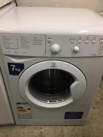White Indesit 7kg 1200 Spin Washing Machine Fully Working Order VGC Just £75