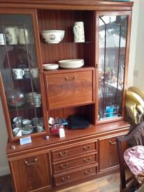 Display cabinet/dresser FREE to collect as we are moving end July. 2see pic. 2 piece 100 X 110 cms