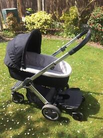 Oyster pram with carrycot and accessories