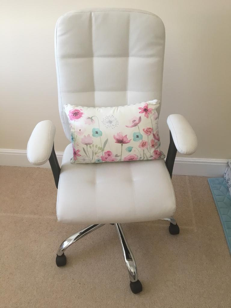 Argos Home Jarvis High Back Chair with Arms White