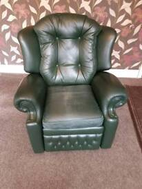 VINTAGE SPRINGVALE LEATHER CHAIR FREE LOCAL DELIVERY