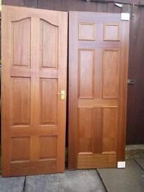 Interier wooden doors 2 of both 78ins.x30ins.