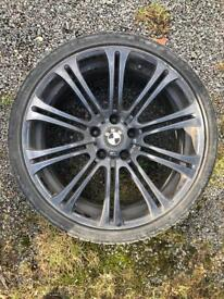 """BMW 19"""" alloy wheel with tyre"""