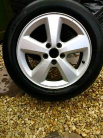 "4 16"" Ford alloy wheels with almost new tyres 5 stud 5x108 (Focus, Mondeo)"