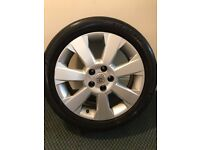 Vauxhall Vectra 2002 To 2005 Elite 17 Inch Alloy Wheel and tyre 5x110 7J ET35
