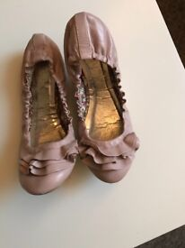 Barratts pink/nude pumps. Size 6.
