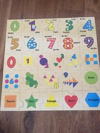 Number wooden puzzle