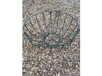 35cm Green wire hanging basket