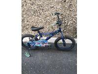 Kids Ben bike with stabilisers size 18inch wheels