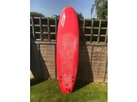 Softech hand shaped 7 ft soft surfboad
