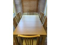 IKEA BJURSTA/BÖRJE Extendable dining table and 6 chairs