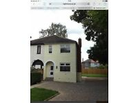 Refurbed 2 bed semi with potential for extension subject to planning, long drive and large gardens