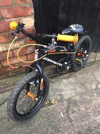 "Apollo Kids bike 18"" wheels, black matt & orange"
