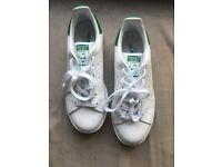 BRAND NEW ADIDAS STAN SMITH WOMEN'S TRAINERS FOR SALE SIZE UK 4 WORN 1x BC TOO SMALL