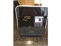 Philips alarm clock/radio/iPod iPhone player